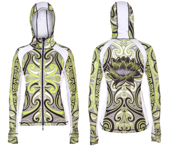 YMX's Infinite Tribal Reflect Hoodie for women is a perfect springtime layer for jogging, running, workout, or for casual wear.